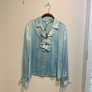 St. John Collection Silk Blouse (NWT)